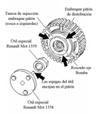 Piñon de distribución para montaje de bomba deinyección especial Reanult.