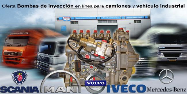 Más información sobre bombas de inyección en línea para camiones y vehículo industrial