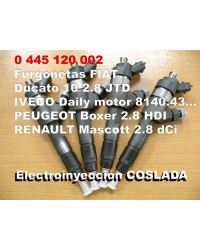 0445120002 Inyector Common Rail Bosch