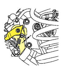 Detalle palancas freno mano en pinza Bosch